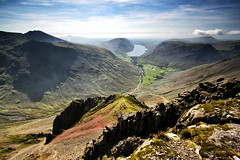 From Westmorland Cairn (nigelhunter) Tags: great gable cumbria lake district westmorland cairn landscape wasdale lingmoor yewbarrow napes ridge head scafell the screes wastwater coast sky clouds