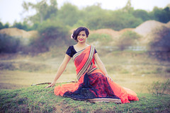 Model: Riya (I Do Photography) Tags: girl smile fashion canon model dress outdoor bangalore 85mm gown dharma saree bengaluru canon7d dharmaphotography