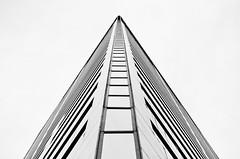 Bancorp Corner Up (Orbmiser) Tags: bw building oregon corner skyscraper portland spring nikon architectural d90 55200vr