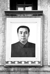 Kim Il Sung (Pedro Alves Rosa) Tags: portrait blackwhite kimilsung northcorea