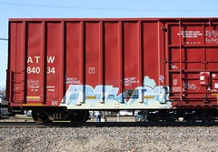 Dekor (quiet-silence) Tags: railroad art train graffiti railcar etc boxcar graff freight fr8 dekor atw atw84034
