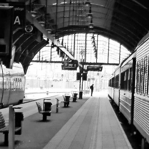 Alone #streetphotography #commute #bw #igersmalmoe