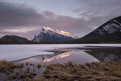 Mount Rundle II (Sandra Herber) Tags: winter sunset snow canada ice alberta mountrundle banffnationalpark vermillionlakes
