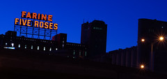 Old Montreal at Dawn (AxelBergeron) Tags: night dawn town montreal oldmontreal oldport nuit farine fiveroses vieuxport matin vieuxmontreal aube farinefiveroses montrealoldport vieuxportdemontreal