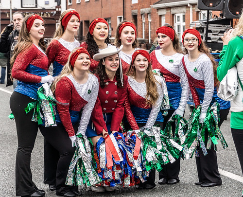ST. PATRICK'S DAY IN DUBLIN BACKSTAGE BEFORE THE ACTUAL PARADE REF -102086