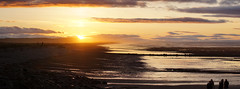 Portgordon Sunset Panorama (Tidyshow) Tags: sunset sea beach beautiful clouds golden scotland seaside highlands scottish highland moray