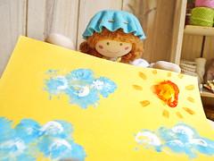 Não ficou lindo? (Ateliê Bonifrati) Tags: cute girl diy drawing craft stamp tutorial pap pintando carimbo bexiga passoapasso bonifrati
