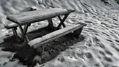 snow cold bench scotland highlands melting seat... (Photo: Mark.L.Sutherland on Flickr)