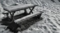 snow cold bench scotland highlands melting seat... (Photo: Mark.L.Sutherland on Flickr)
