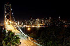 98/365: The Bay bridge at night // 2015 In 365 Photos Project 365 at San Francisco-Oakland Bay Bridge (spieri_sf) Tags: project365 2015in365photos