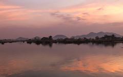 Sonnenuntergang am Mekong auf Don Det