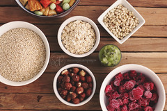 Health (Serena178) Tags: food breakfast healthy nuts health raspberry quinoa crackers pinenuts kiwifruit ricecrackers hazelnuts odc museli