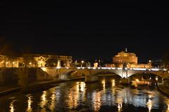 Notte a Roma (mttdlp) Tags: bridge roma night river tevere d3200