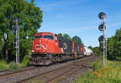 A Rare Treat (Joseph Bishop) Tags: railroad cn train track tank tracks rail railway trains signals rails railfan brantford hardy emd 5645 sd75i cndundassubdivision