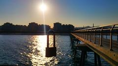 Pont del petroli. Badalona. (bertanuri bcn) Tags: barcelona sea sun sol see soleil mar barco harbour bcn explore pont velero vaixell badalona candado 2016 veler mediterrani explored bdn pontdelpetroli bertanuri