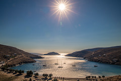 Sunshine over Kythnos island (Vagelis Pikoulas) Tags: blue sea summer sun seascape sunshine canon landscape island holidays view july tokina greece 6d 2016 2470mm kythnos