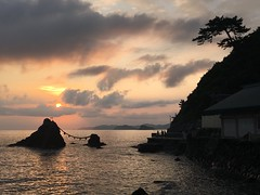 Meoto Iwa () Married Couple Rocks.  Japan (anilegna) Tags: iphone iseshima japan amanemu