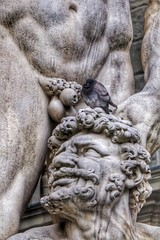 Perched (The Eclectic Mix) Tags: beard face bizarre unusual sculpture nickfewings penis europe italy firenze florence statue pigeon