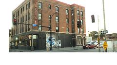 The Butler Building + Gas Lamp Bar (C. VanHook (vanhookc)) Tags: architecture gaslamp pokemon endangered desmoinesiowa butlerbuilding pappajohnsculpturepark 52in2016