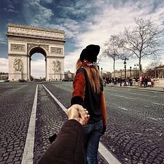 Follow me to The Arc de Triomphe in Paris, France (waluntain) Tags: follow me photo photos compilation shoot shoots murad osmann natalia zakharova world places beautiful photographer france paris arcdetriomphe