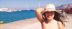 Hello:) (Demy.mk) Tags: me girl island backround lowresolution myself sea koufonisia harbour greece