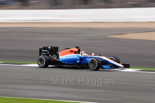 Pascal Wehrlein in his Manor car during Free Practice 1 at the 2016 British Grand Prix