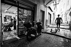 works (Silvan72) Tags: street people monochrome architecture work nikon wide sanremo