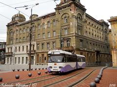 Tramvai/Tram in Piata Sfantu Gheorghe@Timisoara (19EGM93) Tags: tram tramvai historic buildings poli colours piata sfantu gheorghe timisoara temeswar
