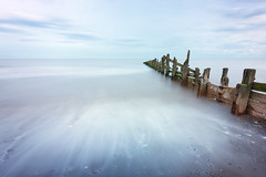 Spurn Groynes (aveyardphotography) Tags: spurn head point sea coast coastal long exposure cool seascape weathered beams wood horizon yorkshire light