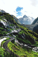 Dream Road #4 (NIOphoto.) Tags: road summer cloud mountain mountains alps green clouds schweiz switzerland nice nikon mood bend dam swiss strasse dream pass bern alpen curve staumauer grimsel d5200