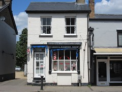 St Mary's Barber Shop, 10 St Mary's Street, Ely, Cambs (LookaroundAnne) Tags: gwuk barbers hairdressing ely cambs cambridgeshire