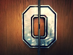 Block O (brown_theo) Tags: block o door handles woody hayes athletic center whac osu ohio state campus football