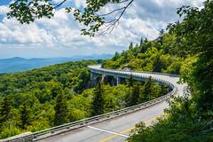 Linn Cove Viaduct (Vladimir Grablev) Tags: daytime blue parkway bridge linn cloudy green ridge viaduct cove summer park national newland northcarolina unitedstates us