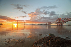 One, Two, Three on the Forth (reiver iron - RMDPhotos.co.uk) Tags: river forth crossing rail road bridge south queensferry lothian edinburgh sunset long exposure