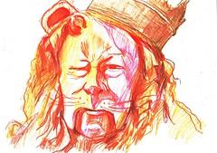 SUEOS-EN ALGN LUGAR SOBRE EL ARCO IRIS... (GARGABLE) Tags: oz angelbeltrn gargable retrato portrait lpicesdecolores sketch drawings dibujos