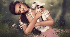 It's All About The Friends You Meet Along The Way, Dorothy! ... by Niani (xxnianixx (...**aka Tijana**)) Tags: enchantment meva nomatch niani portrait forest bunny cute digitalart event beauty wonderland