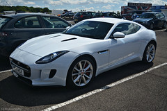 Jaguar F-Type S Coupe (CA Photography2012) Tags: ye15hsv jaguar ftype s coupe v6 sportscar white british gt grand tourer jag f type ca photography automotive exotic car spotting bentley drivers club silverstone