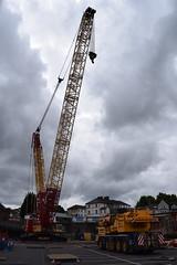 Weldex and Ainscough Cranes (5asideHero) Tags: london wales rail electrification scheme weldex crawler crane ainscough hire ltd ke04 hcj liebherr lr16002