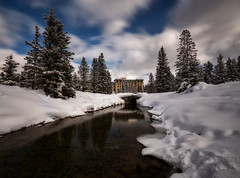 Fairmont, Lake Louise (Saptashaw Chakraborty) Tags: canada alberta lakelouise canadianrockies winter canon 6d 1635f4l landscape fairmont reflections river cluds longexposure haida 10stop nd