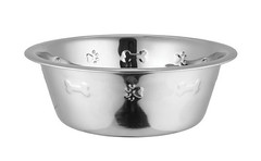 SKU 1100: aGLOW Standard Feeding  Bowls Wall Embossed (TranscendentPet) Tags: dogs cats dog cat rabbit guinea pig birds parrot petbowls feeders waterers feedingtime