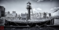 Carpentaria (Bill Thoo) Tags: carpentaria darlingharbour sydney nsw australia lightboat sydneyharbour travel landscape city cityscape monochrome blackandwhite sony a7rii samyang 14mm ngc