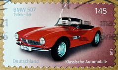 great stamp Germany 145c (BMW 507 Roadster; 1956/59) timbres Allemagne     sellos Alemania selos Alemanha   frimerker Tyskland markica Njemaka pullari Almanya       postzegels duitsland francobolli Germany (thx for sending stamps :) stampolina) Tags: auto macchina   wagen timbres allemagne    sellos alemania selos alemanha   frimerker tyskland markica njemaka pullari almanya    postzegels duitsland francobolli stamps briefmarke briefmarken postzegel zegel zegels    znaczki frimrken   bollo francobollo bolli postes sello selo raztka blyegek rot red rouge rojo rosso   vermelho bmw roadster bmw507 507 classic car classiccar