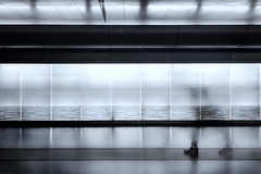 silent passage (s@brina) Tags: passage time fleeting blur monochrome person mosso