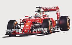 Sebastian Vettel (Fireproof Creative) Tags: ferrari f1 formulaone grandprix silverstone motorsport motorsports digitalart painting sebastian vettel sebastianvettel