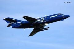 G-FRAH FALCON 20C (douglasbuick) Tags: aircraft dassault falcon 20c cobham aviation gfrah jet plane takeoff egpk prestwick airport scotland flickr nikon d40