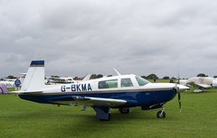 G-BKMA Mooney M20, Sywell (wwshack) Tags: egbk england laa lightaircraftassociation m20 mooney northamptonshire orm sywell sywellaerodrome gbkma