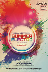 SUMMER ELECTRO (movingclays) Tags: party house love halloween colors festival rock dance flyer model artist dj peace graphic nightclub indie speaker electro techno beast hiphop guest breakdance psd drumbass template dubstep
