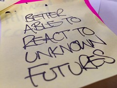 Better able to react to unknown futures.