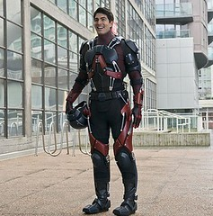 The Atom (Guardian Screen Images) Tags: show green comics book dc costume tv comic ray brandon books super palmer suit hero superhero series arrow atom 2012 shrink shrinking routh the 2015 exo exosuit