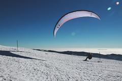 Paragliding skiing (pille291) Tags: sun mountain alps sunshine skiing paragliding paraglider